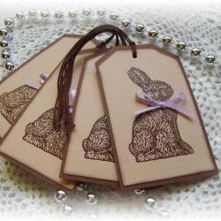 Chocolate Bunny Tags (4)