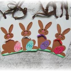 Bunnies in Ties Tags (4)